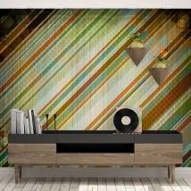 Murales vinili stile retrò da decorare