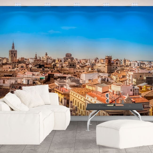 Murales in vinile panoramica di valencia