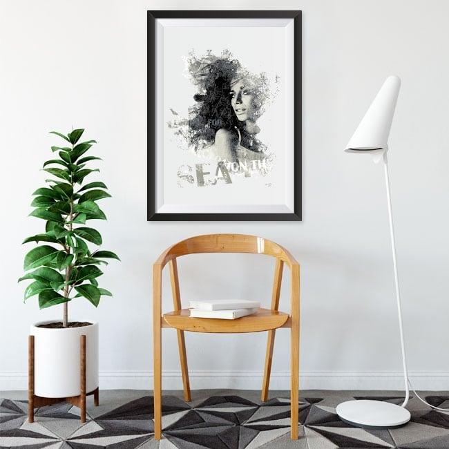 Vinile decorativo silhouette di donna immagine effetto 3d