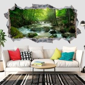 Vinili muri cascata e natura 3d