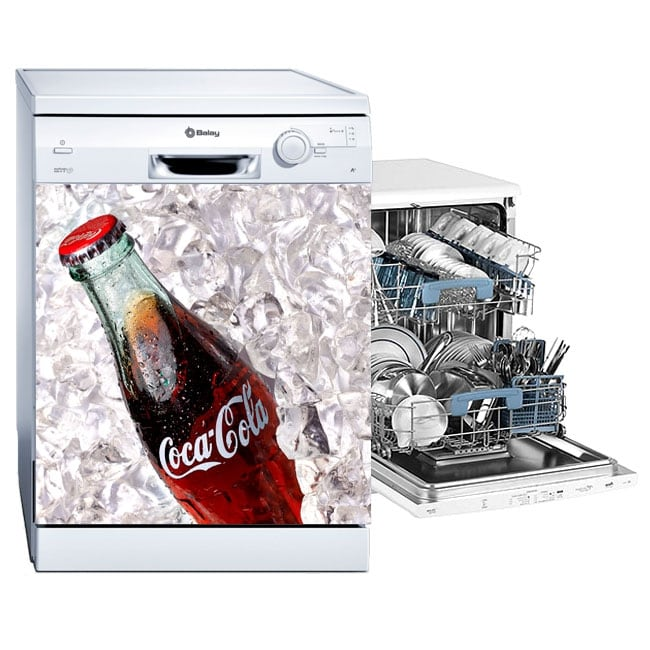 Vinile per lavastoviglie coca-cola
