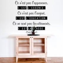 Vinile decorativo coco chanel frase francese