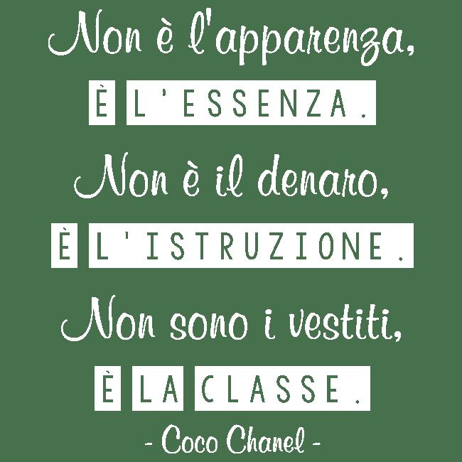 Vinile Adesivo Coco Chanel Frase Italiana