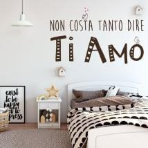Vinile e adesivi frasi ti amo in italiano