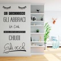 Vinili muri frasi italiane mi piacciono gli abbracci