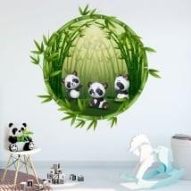 Vinili stanze per bambini orsi panda