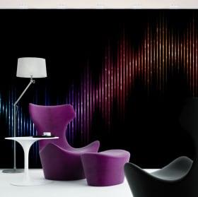 Murales in vinile vibrazioni musicali