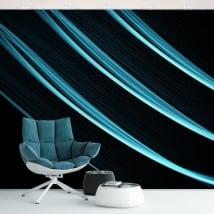 Murales in vinile pareti e gli oggetti tratti blu