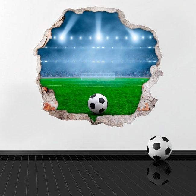 Adesivi murali campo di calcio 3d