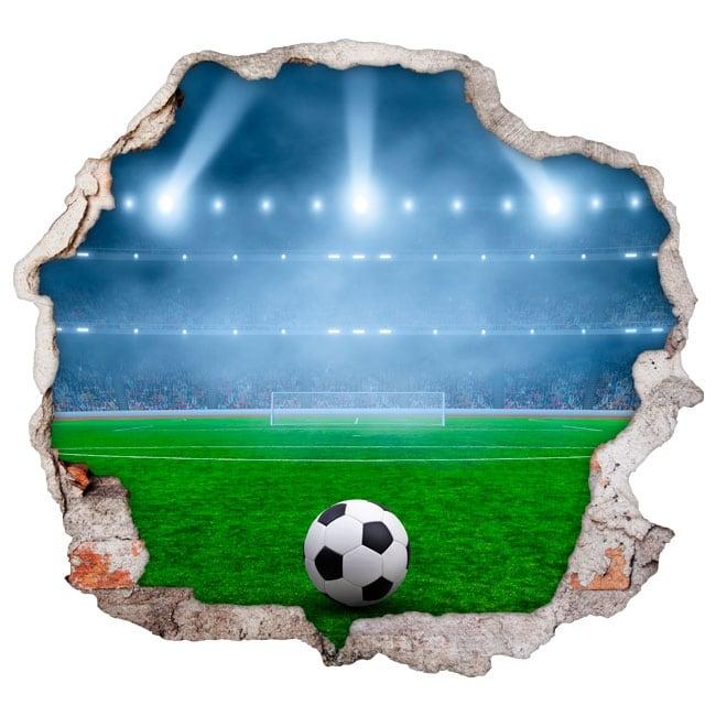 Adesivi murali campo di calcio 3d for Adesivi murali 3d