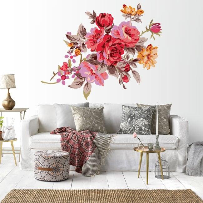 Vinile decorativo fiori muri