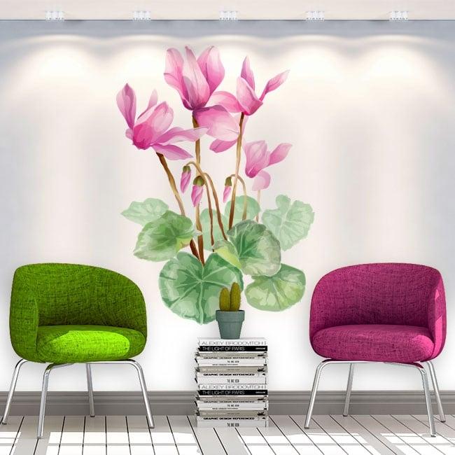 Adesivi e vinili decorativi fiori muri
