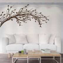Adesivi in vinile ramo di un albero con foglie