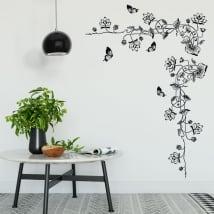 Adesivi fiori e farfalle