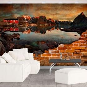Foto murali reine norvegia effetto muro rotto