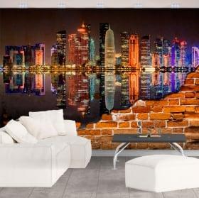 Murales in vinile città di doha qatar effetto pareti malacca