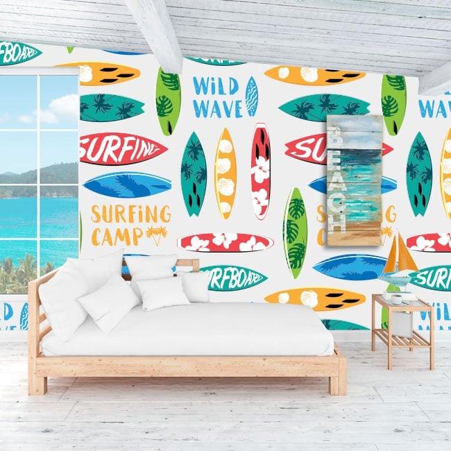 Murales in vinile per decorare pareti e oggetti surf