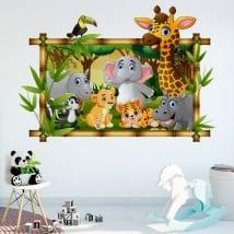 Vinili stanze per bambini animali dello zoo