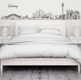 Decorative vinyl sydney skyline australia