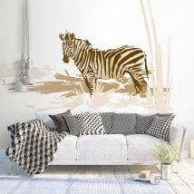 Vinile decorativo e adesivi zebra africa