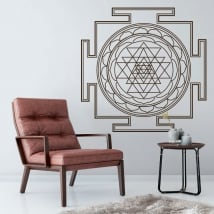Adesivi pareti mandala sri yantra