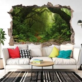 Sticker murale alberi nella foresta 3d
