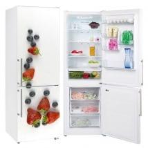 Vinile decorativo frutta per decorare i frigoriferi