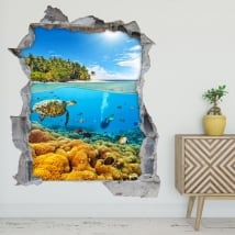 Adesivi decorativi 3d immersioni nel mare