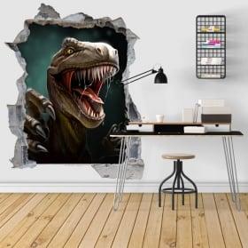 Adesivi decorativi 3d illustrazione di dinosauro