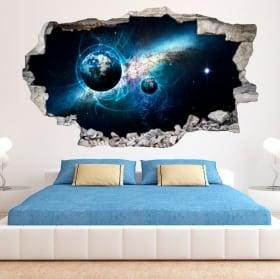 Vinile decorativo e adesivi 3d galassia