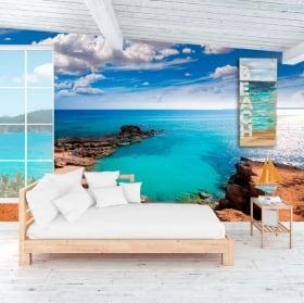 Murales la spiaggia es caló formentera isole baleari