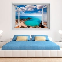 Vinili finestre spiaggia es caló formentera isole baleari 3d