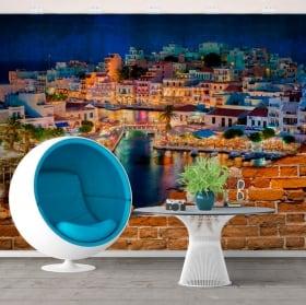 Gigantografie grecia agios nikolaos isola di creta effetto muro rotto