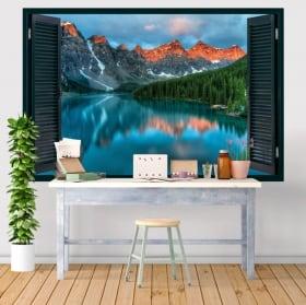 Vinile decorativo finestre lago moraine canada 3d