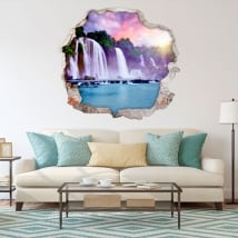 Adesivi murali cataratas ban gioc detian 3d