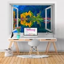 Adesivi pareti washington lago jolanda 3d