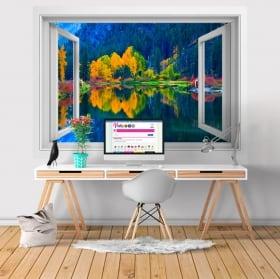 Vinili finestre lago tekapo nuova zelanda 3d