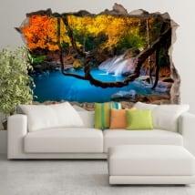 Vinile decorativo cascata foreste asiatiche 3d