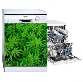 Vinile per lavastoviglie piante di marijuana