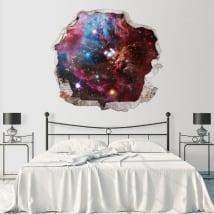 Vinile decorativo muri nebulosa spaziale 3d