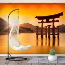 Murales giappone torii floating sanctuary itsukushima