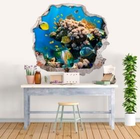Adesivi decorativi pesci e stelle marine 3d
