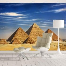 Murales in vinile piramidi di guiza