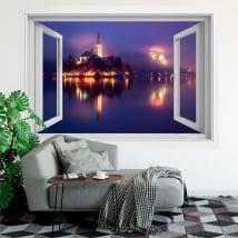 Vinile decorativo finestre slovenia bled 3d