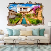 Vinile decorativo l'alhambra il generalife 3d