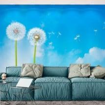Murales in vinile fiori di tarassaco