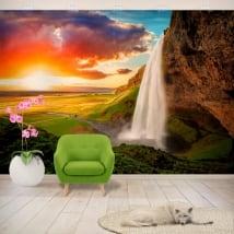 Murales in vinile cascata seljalandsfoss islanda