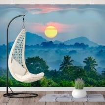 Murales in vinile tramonto natura sri lanka