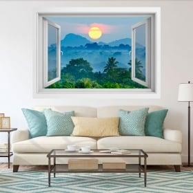Vinili finestre natura tramonto sri lanka 3d
