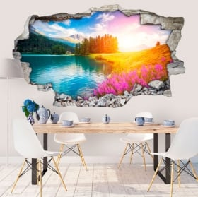 Vinile decorativo lago champfèr svizzera 3d
